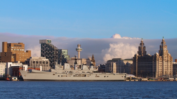 HMS Illustrious docked in Liverpool