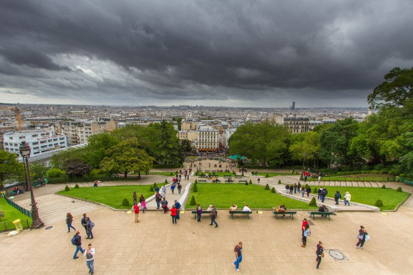 Paris from foot of the Sacre Coeur