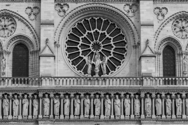 Architecture on the Notre Dame cathedral