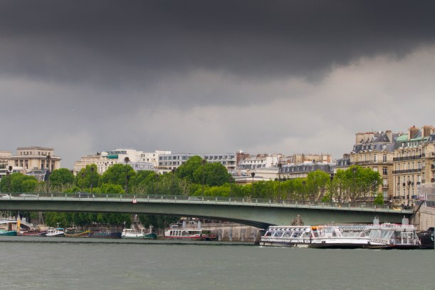 Storm brewing over the river Seine