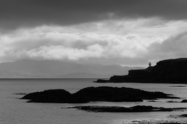 Stormy exit of Eigg