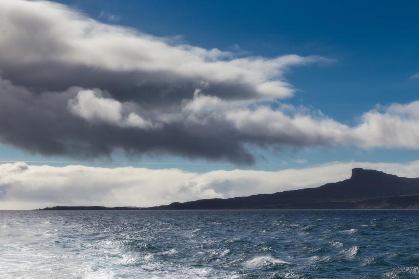 Afternoon sun on Isle of Eigg